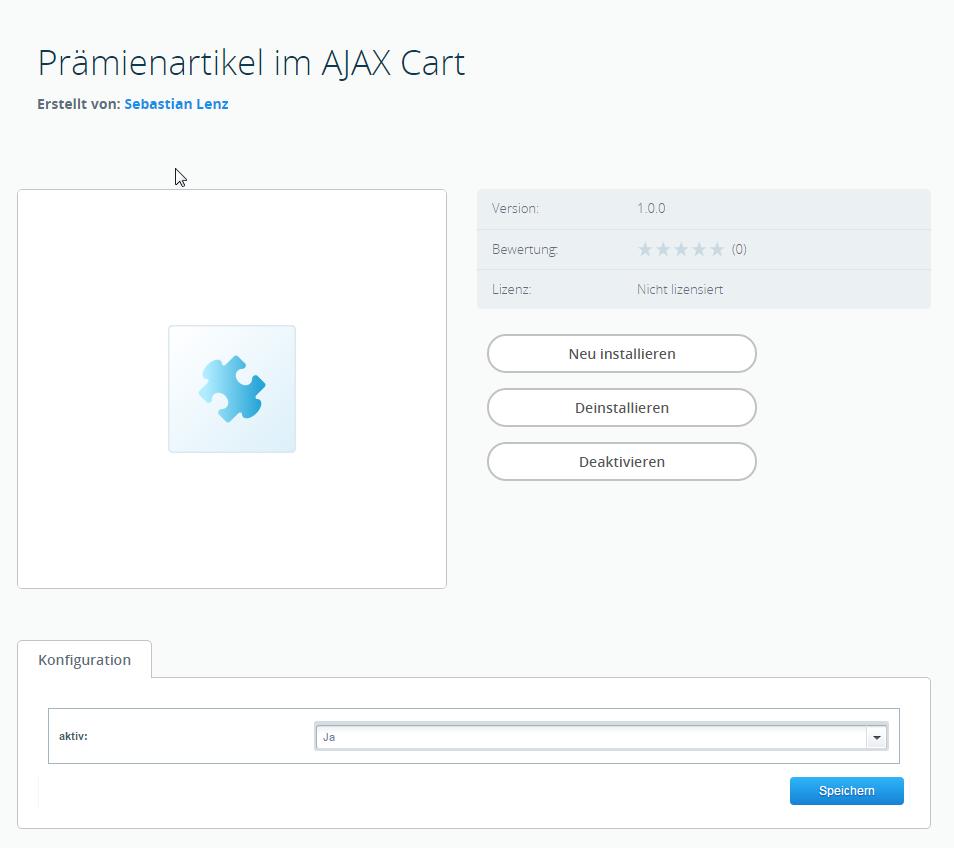 Prämienartikel im AJAX Warenkorb (SW5)