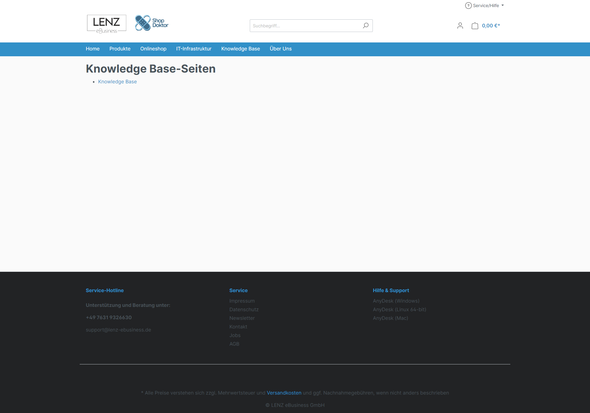 Knowledge Base / FAQ (SW6)