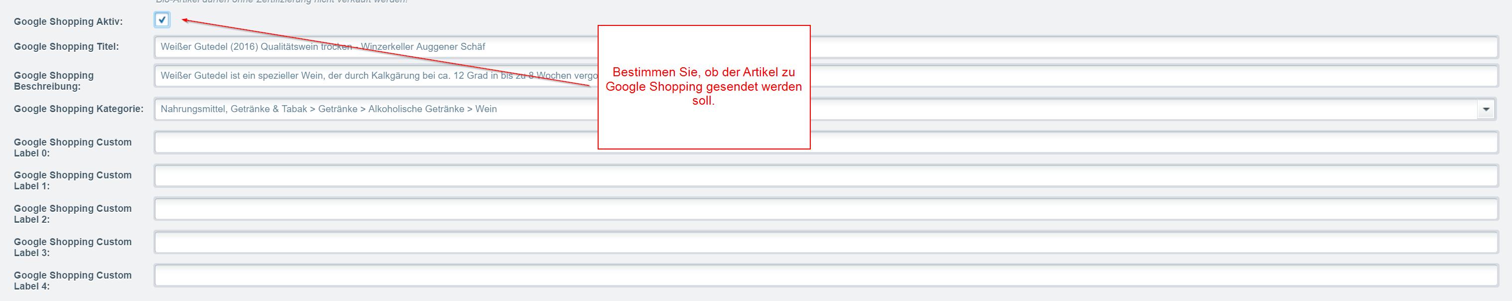 Google Shopping für Shopware (SW5)