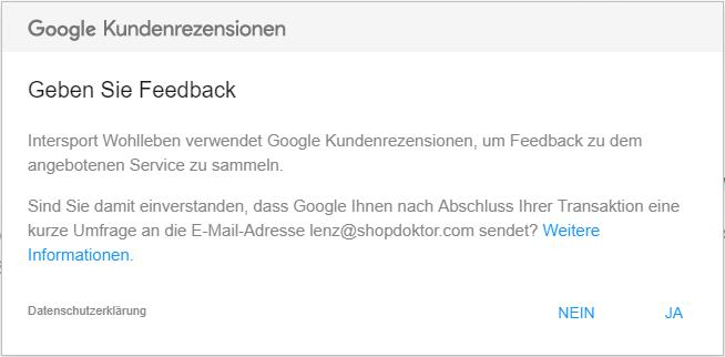Google Kundenrezensionen + Badge (SW5)